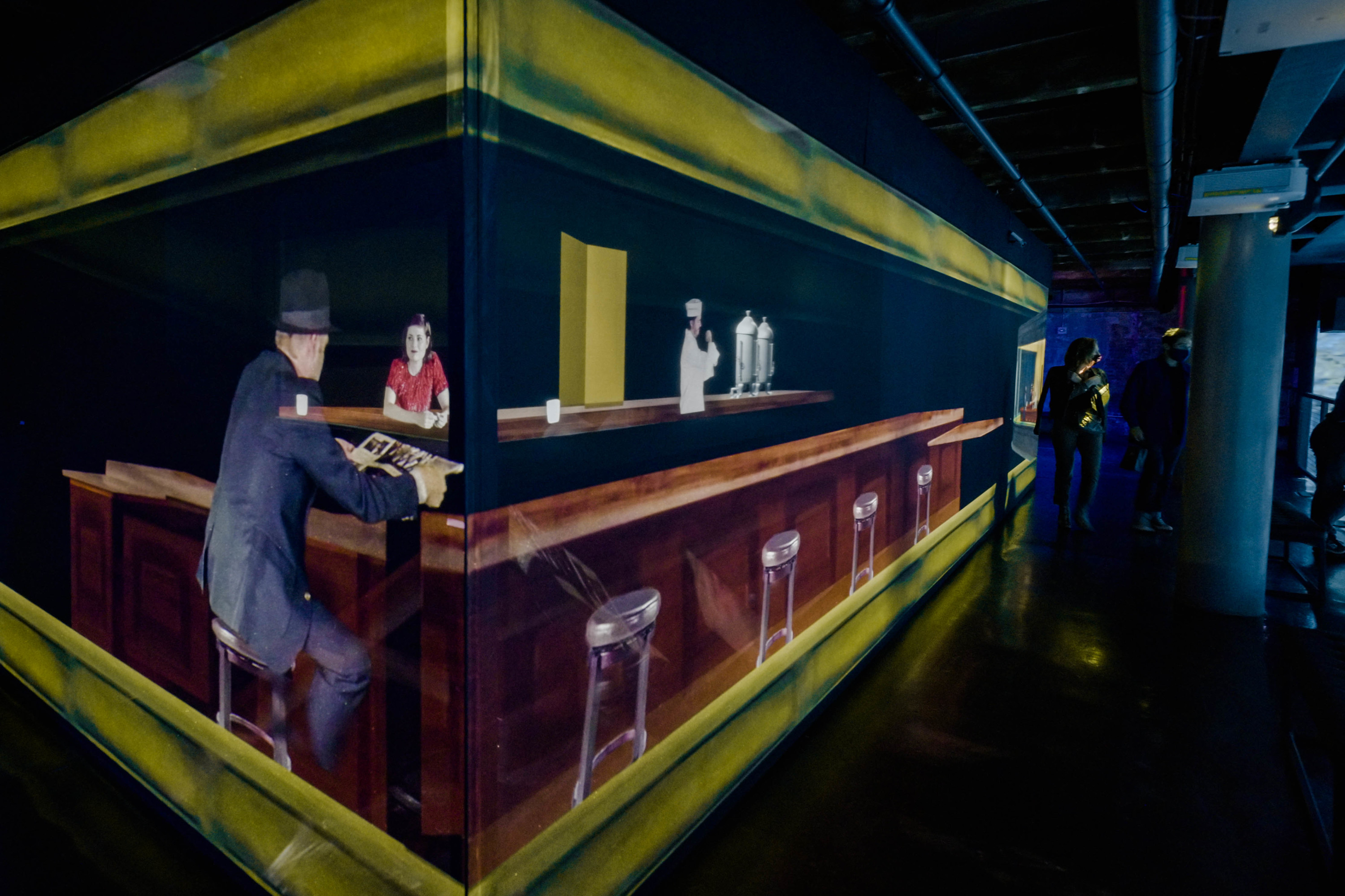 This immersive installation lets you see inside an Edward Hopper painting