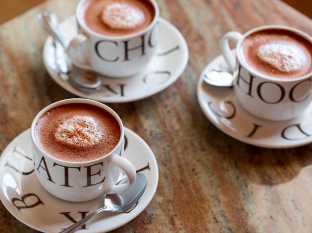 Hot chocolate at L.A. Burdick