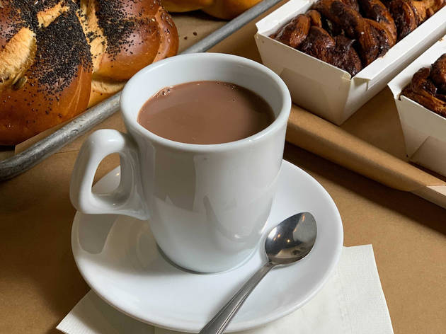 Hot chocolate at Breads Bakery