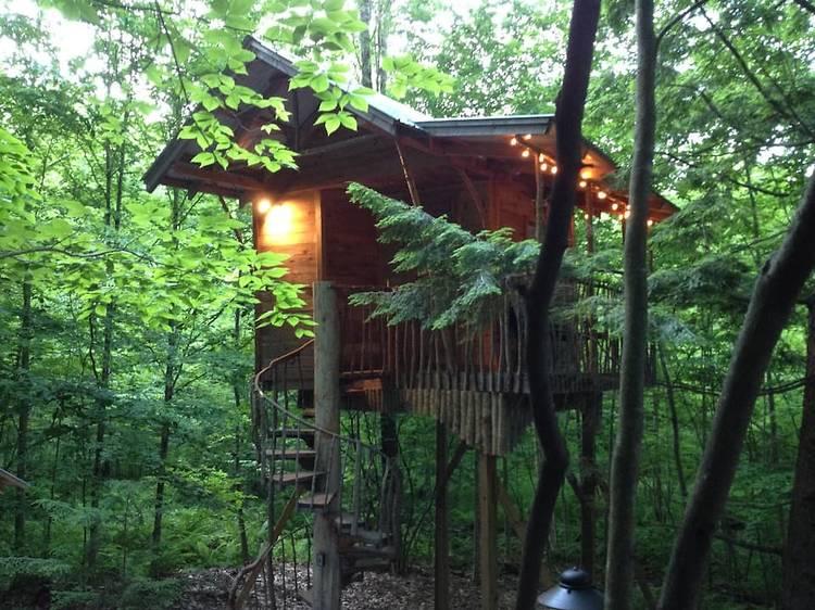 Middle Grove, NY: An Adirondack Tree House Retreat