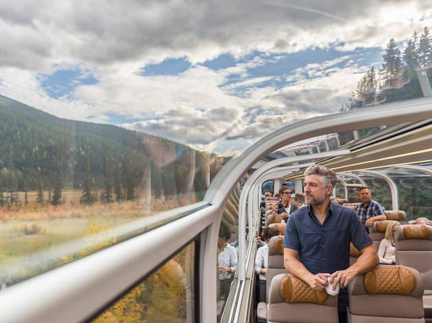 This beautiful glass-domed train is officially open in the Rocky Mountains