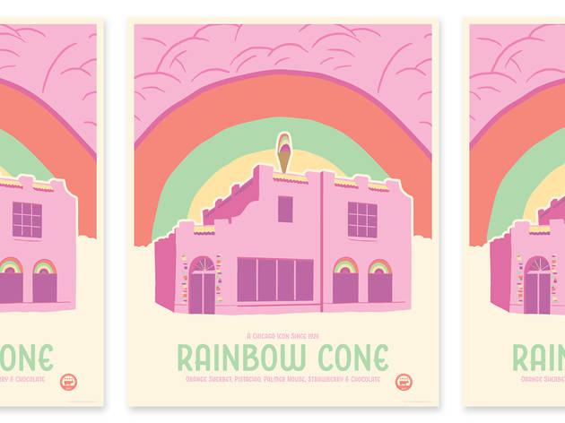 Rainbow Cone print