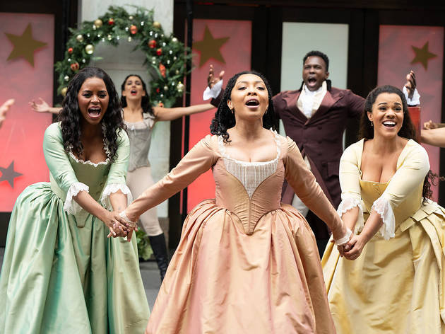 Macy's Thanksgiving Day Parade -- 2020 -- Pictured: Cast of Hamilton -- (Photo by: Virginia Sherwood/NBC)