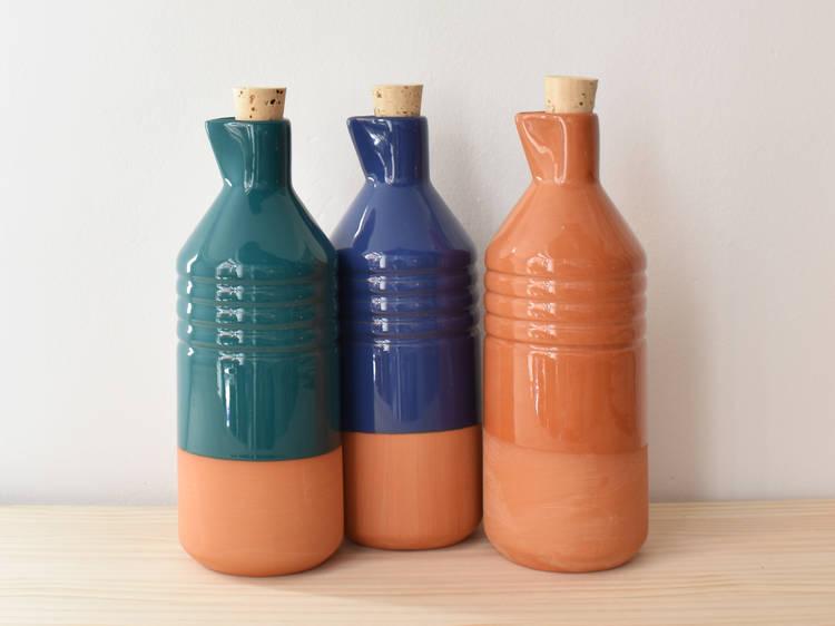 Botellas de terracota vidriada. La Portilla Shop