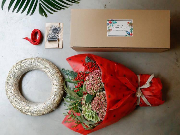 Kit de corona de flores. Sally Hambleton