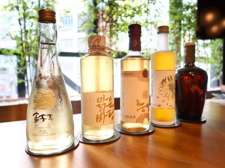 Korean wines at Hansik Goo