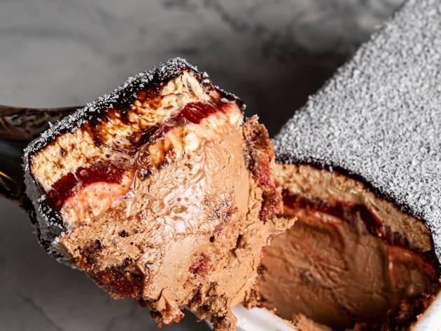 Gelato Messina has released a coconut-topped, jam-filled lamington gelato tub