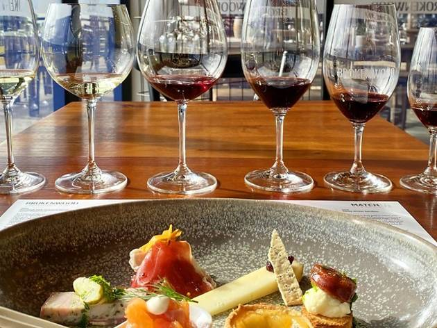 food and wine tour at Brokenwood
