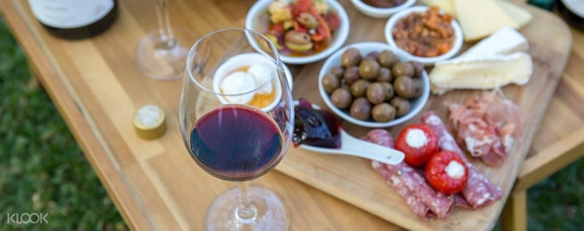 Antipasto and wine at Briar Ridge