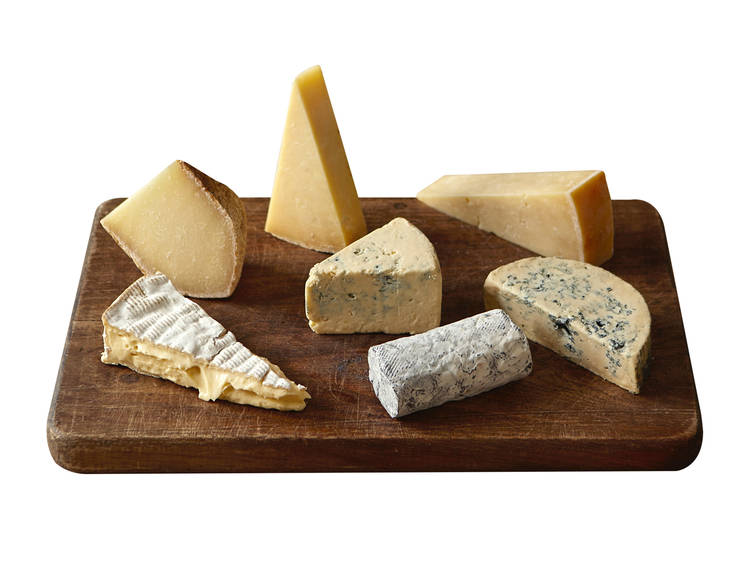 Cheese selection by Neal's Yard Dairy