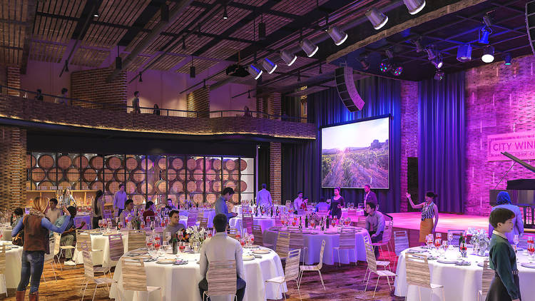 Indoor dining at City Winery