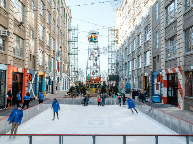 You can go both ice and roller skating at Industry City this year