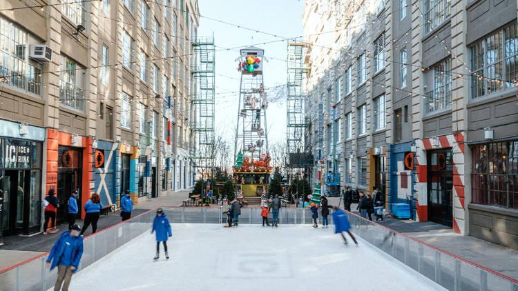 Industry city ice skating rink