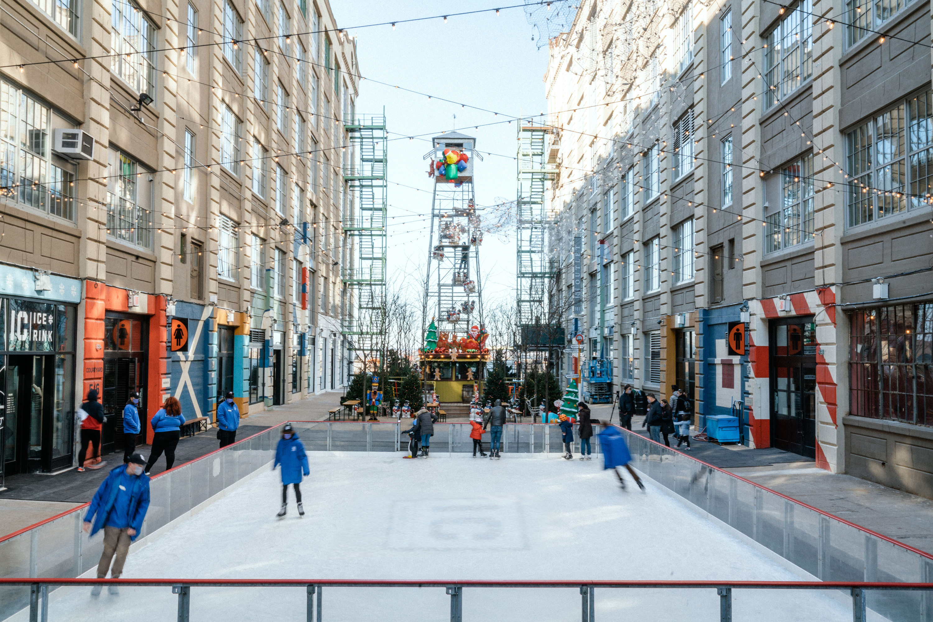 Industry city ice skating rink