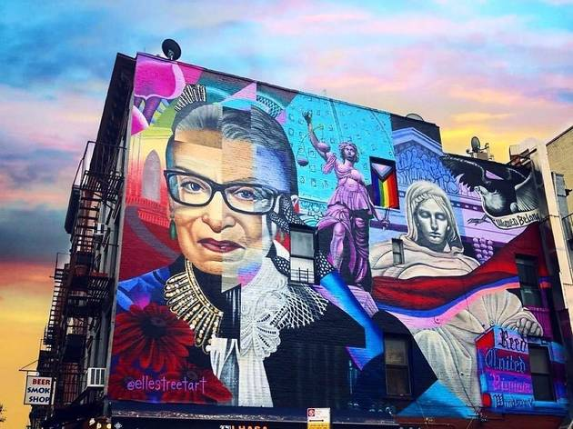 A giant Ruth Bader Ginsburg mural is going up in the East Village