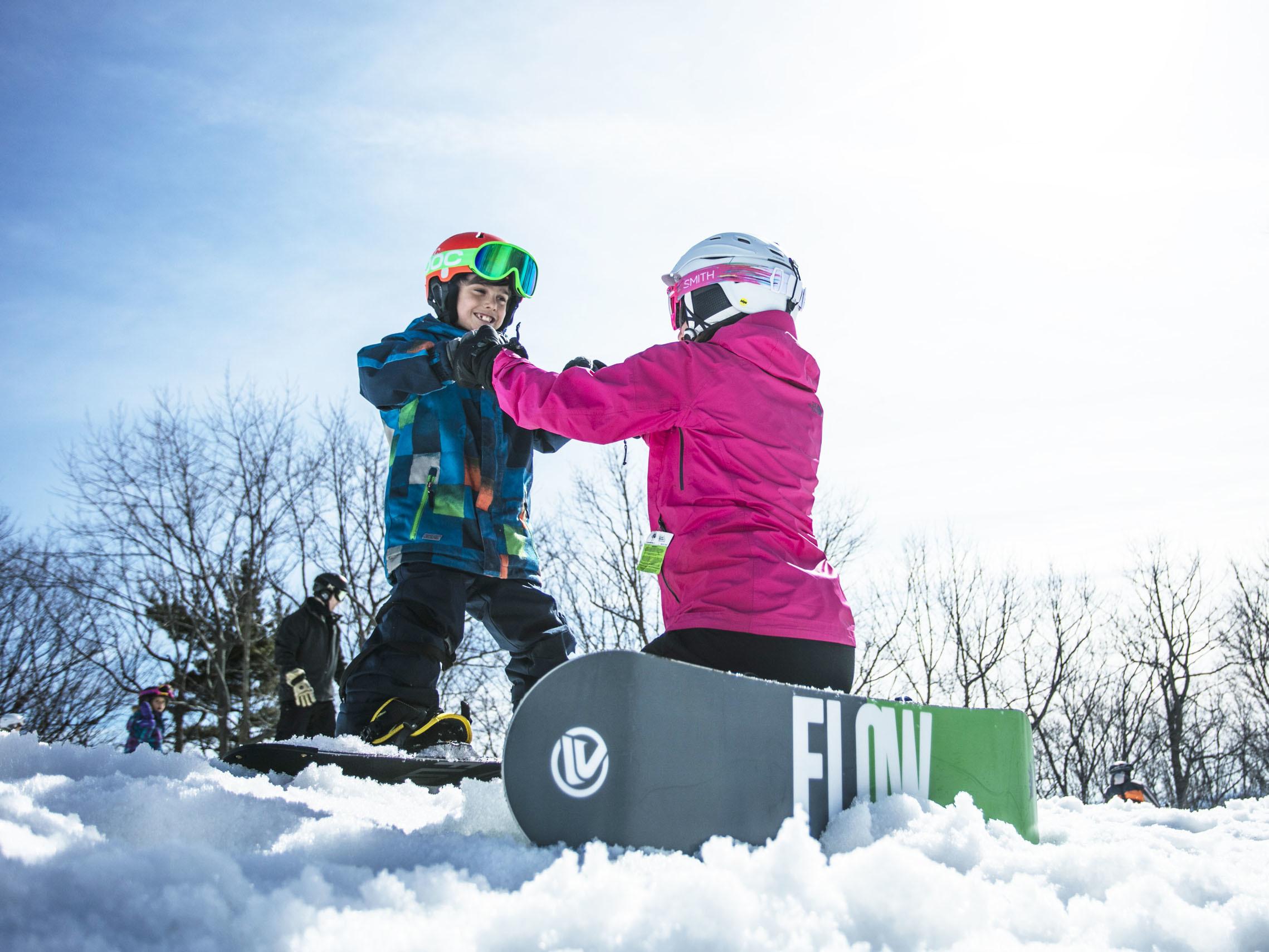 Ski Saint-Bruno, snowboarding, family