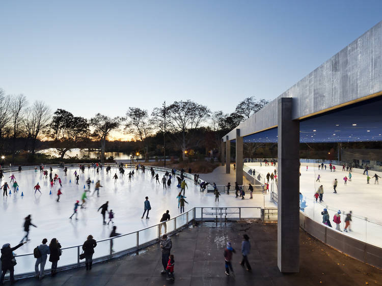 Ice-skating at the LeFrak Center