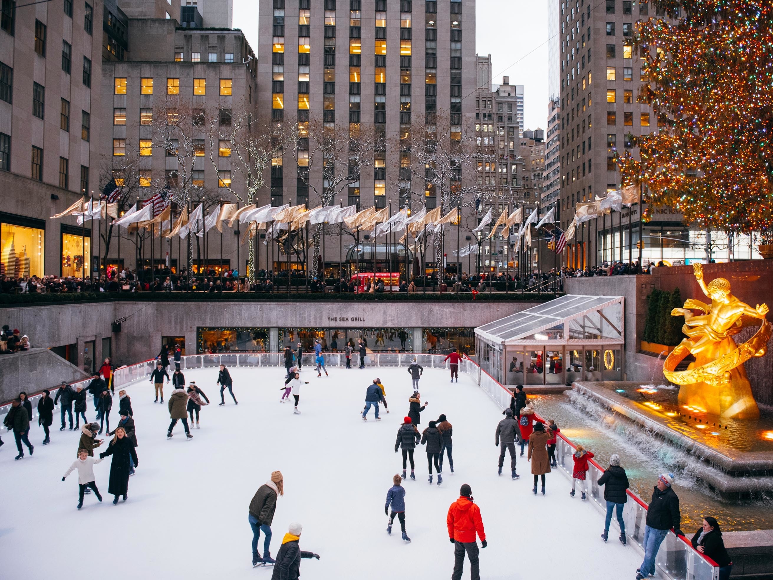 The best places to go ice-skating in NYC