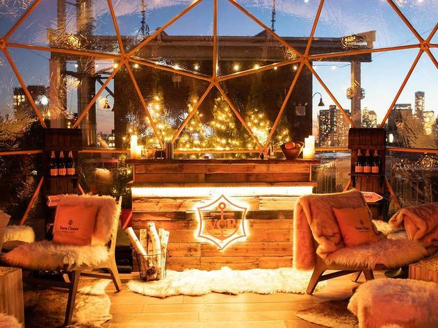 The rooftop chalet at Mr. Purple