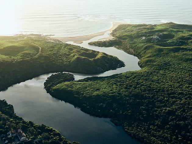 Mouth of a river winding