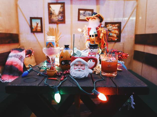 The holiday pop-up at the Garret Cocteleria