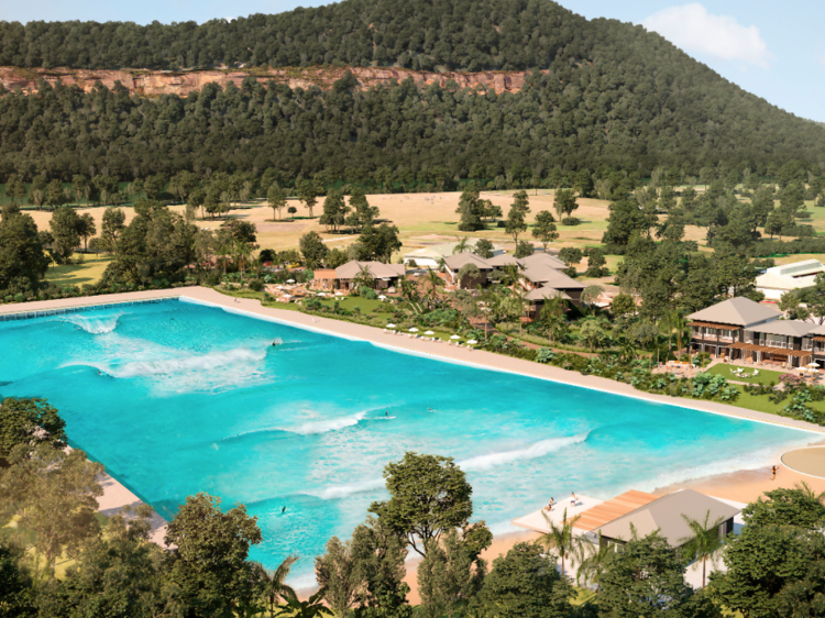 The construction of a huge, new surf pool and luxury resort was approved