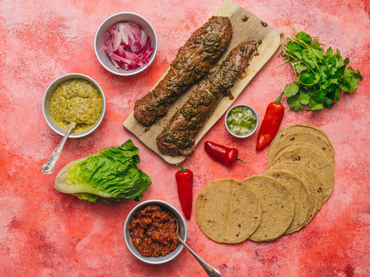 Corazón, carne asada taco kit