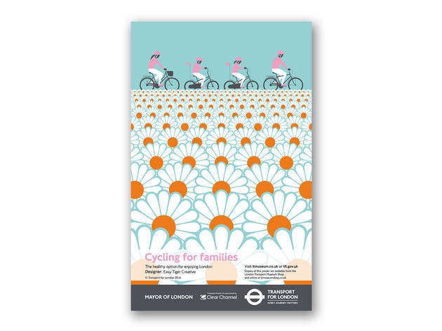 'Cycling for Families' poster by the London Transport Museum