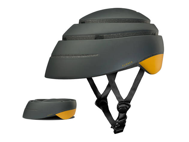 Folding cycle helmet by Freddie Grubb