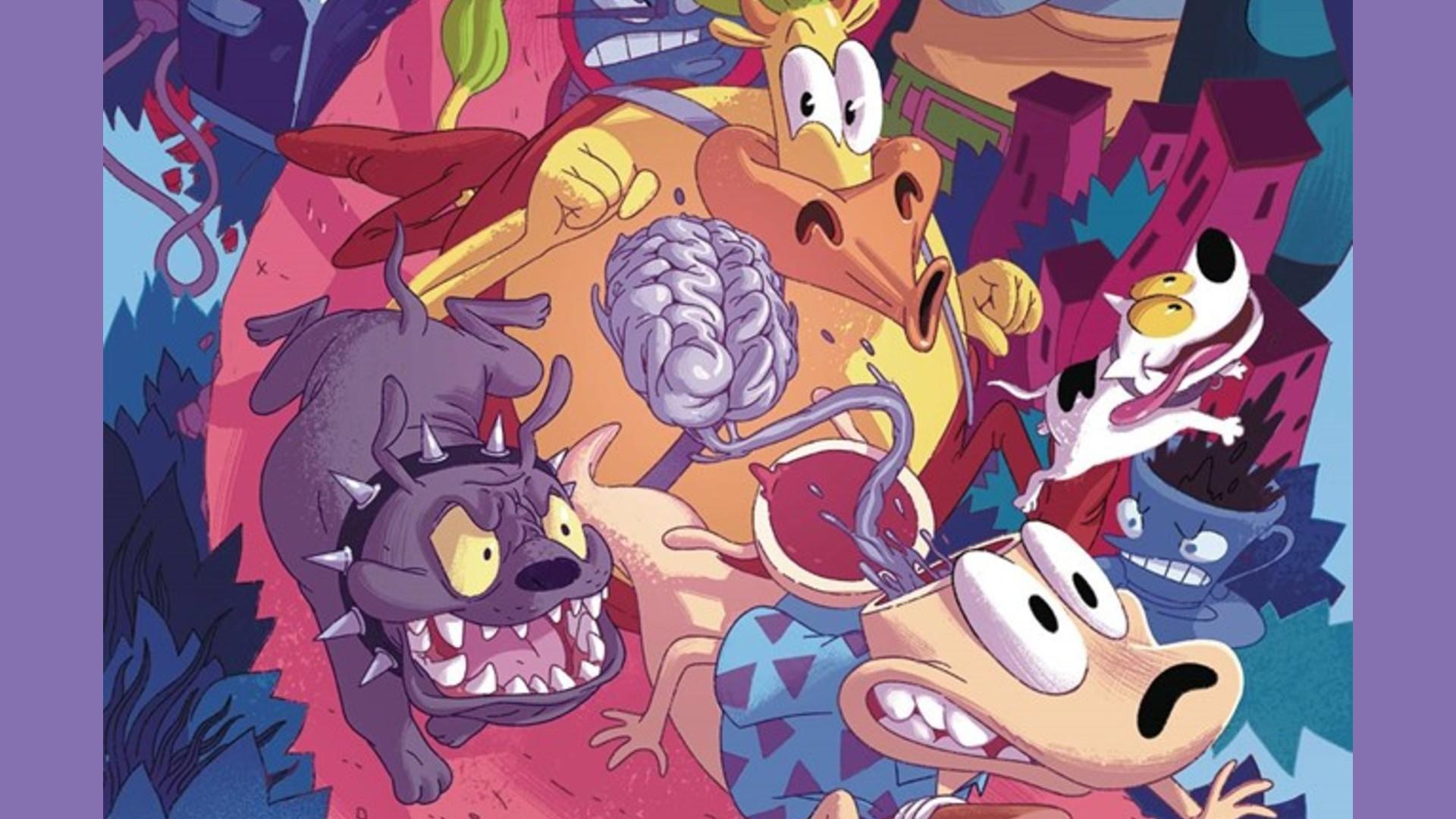 Ilustración del cómic Rocko's Modern life