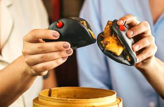 Restaurante, Boa-Bao, Bao de robalo com rabanete amarelo em conserva e maionese picante