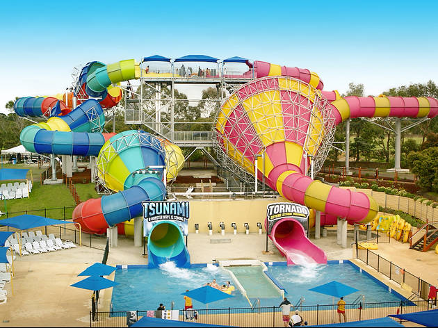 Slides at Adventure Park Geelong