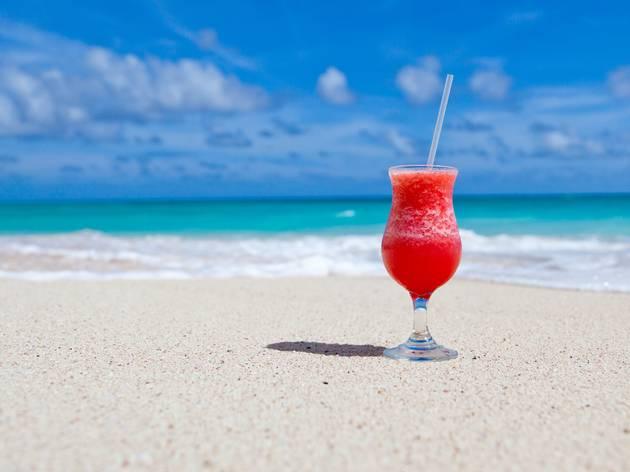 Drink on a beach