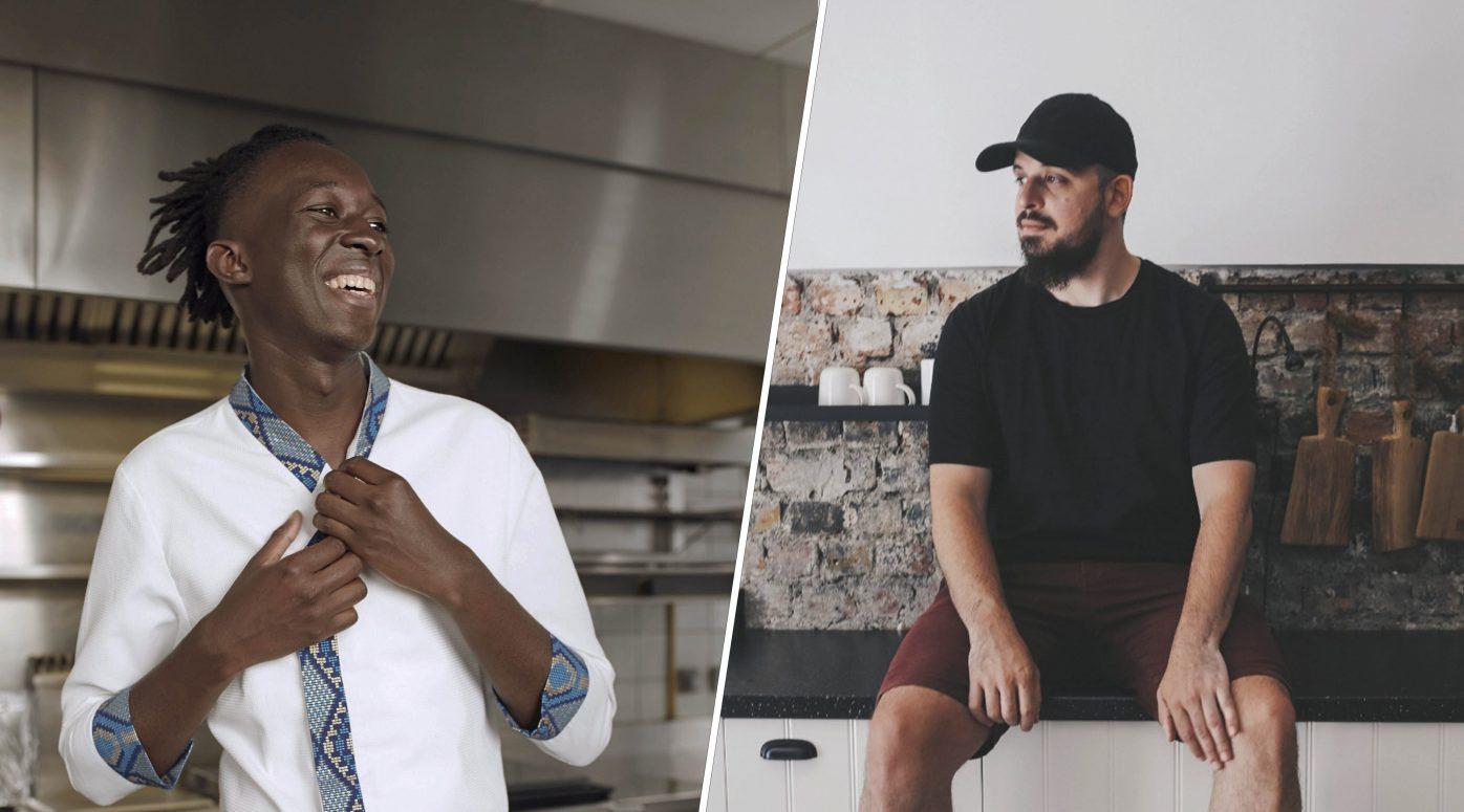 Mory Sacko et Adrien Cachotdonnent des cours de cuisine sur Zoom