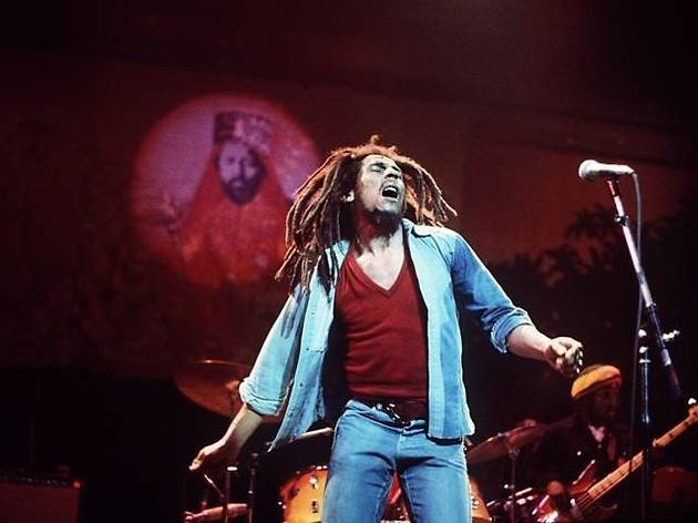 Bob Marley, photo used as promo for Get Up, Stand Up! musical