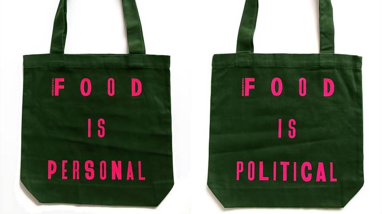 Now Serving tote bag