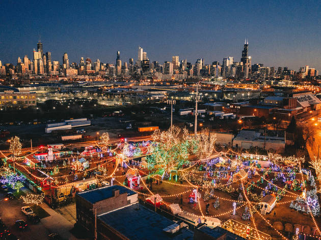 A Christmas tree farm and dazzling walking path open in Chicago