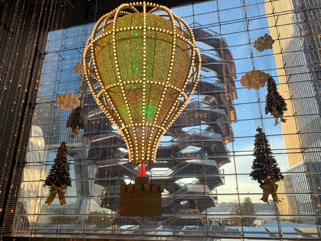 Hudson Yards holiday lights