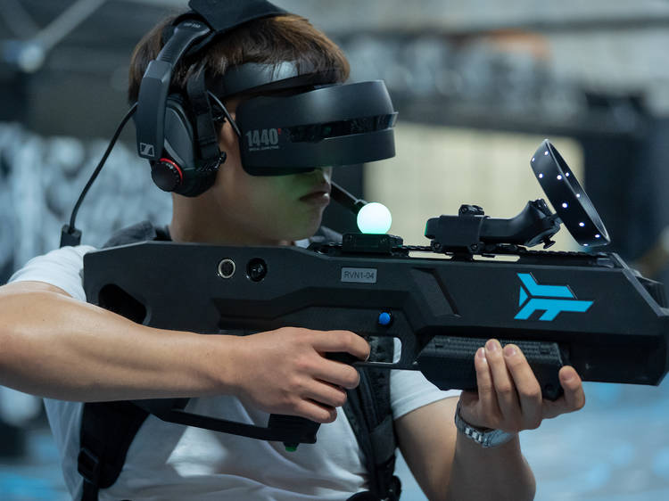 Battle it out in a VR arena