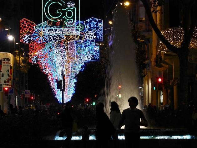 Llums de Nadal als Jardinets de Gràcia