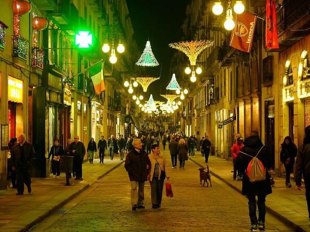 Llums de Nadal al carrer Ferran