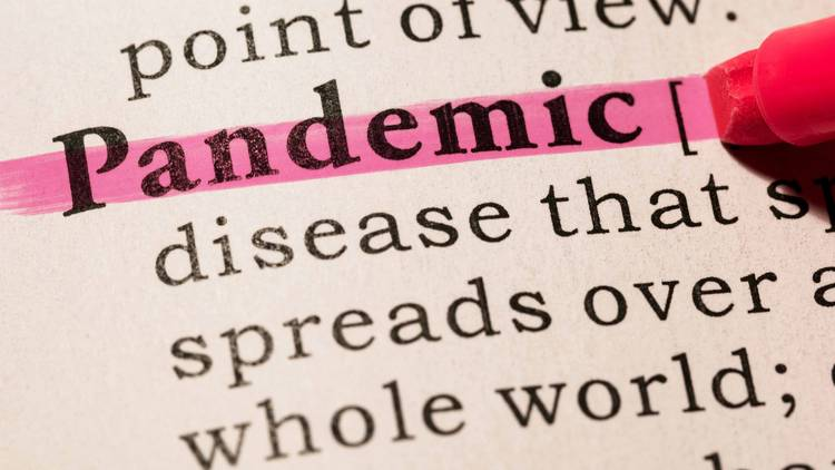 Word pandemic in dictionary