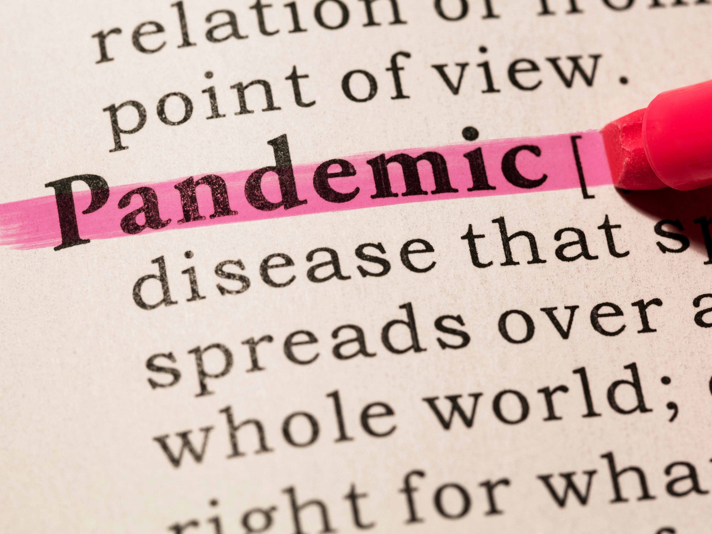 "To the surprise of literally no one, Merriam-Webster and Dictionary.com select ""pandemic"" as the word of the year"