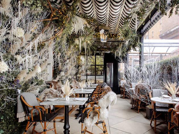 Dinner, winter, terrace