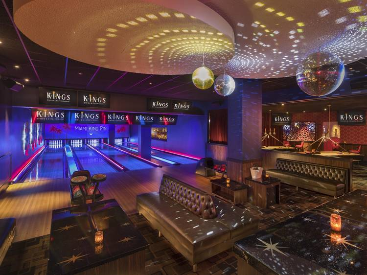 Book a bowling lane at Kings Dining & Entertainment