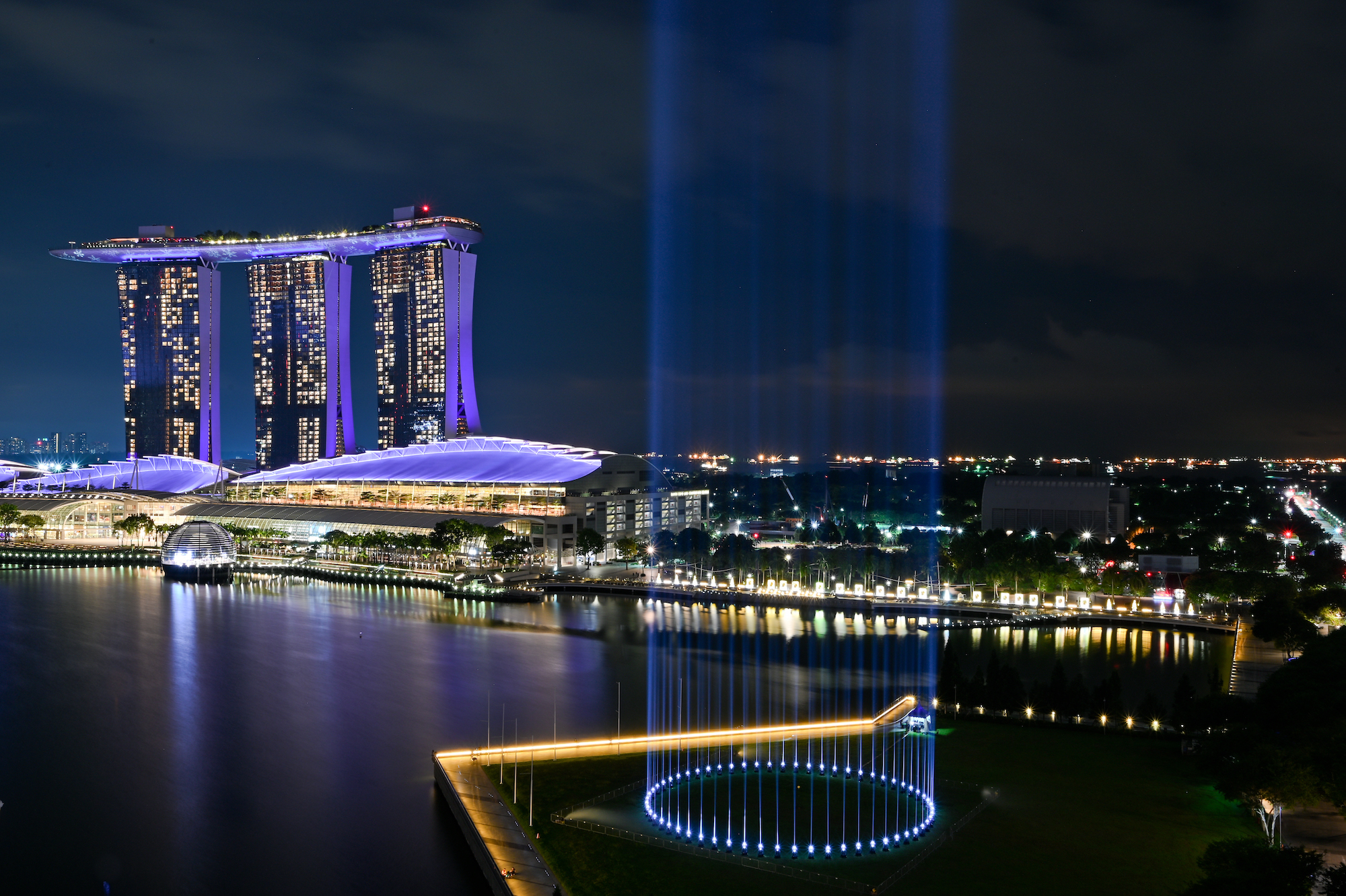 An epic light show will illuminate the Marina Bay this New Year's Eve