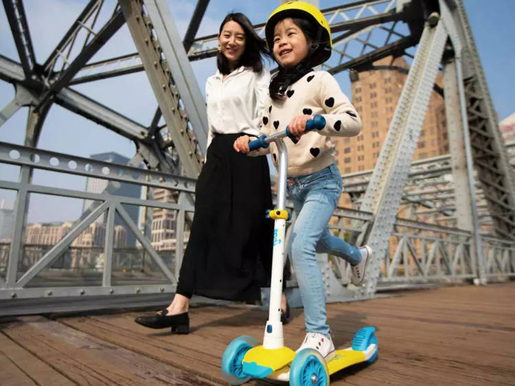 Oxelo scooters and skateboards