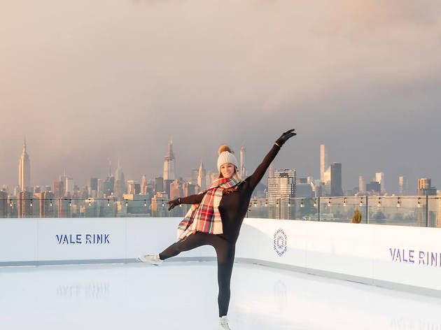 NYC's only rooftop ice skating rink has incredible skyline views