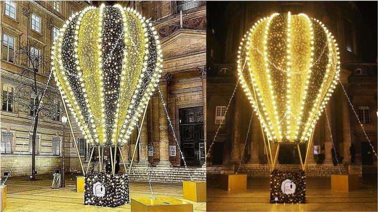 Pour Noël, une montgolfière géante illumine le Faubourg Saint-Honoré
