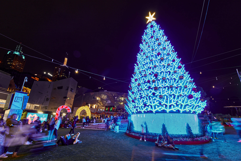 Fed Square Christmas lights 2020